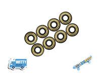 8 x Abec 7 Gold 608 Wheel Bearings for Stunt Scooter Quad, Skateboard, Skates