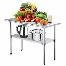 36 X 24 Stainless Steel Food Prep Amp Work Table Commercial Kitchen Table Silver