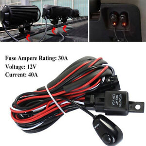 12V 40A Remote Control Wiring Harness Strobe Switch Relay ... Remote Wiring on