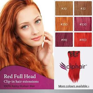 Finest quality red clip in hair extensions 100 real human hair image is loading finest quality red clip in hair extensions 100 pmusecretfo Gallery