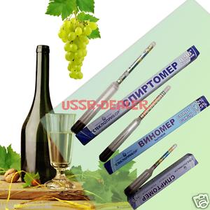 LOT 3 TESTER HYDROMETER GADGETS ALCOHOLMETER PROOF ALCOHOL METER VINOMETER