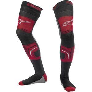 Alpinestars Knee Brace Socks Strümpfe Beinlinge für Knieschutz rot//schwarz//grau