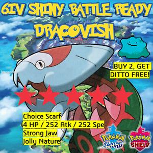 Pokemon-espada-escudo-brillante-6IV-dracovish-Batalla-Listo-idem-Oferta