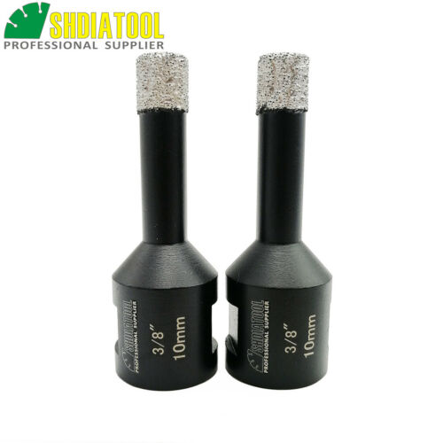 2pcs Vacuum Brazed Ceramic Diamond Core Bits Dry Drilling Hole Saw 5//8-11 Thread