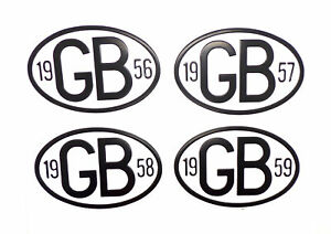 Universal Vintage Classic Car Metal GB Badge with Date VW Beetle Camper 1955-79