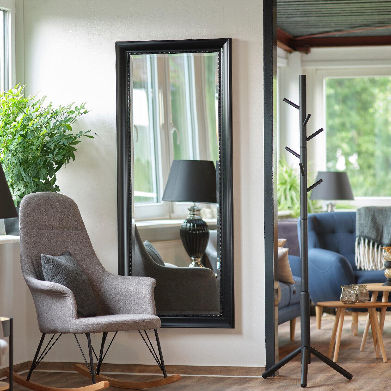 Großer Wandspiegel mit elegantem & schlichtem Rahmen mit Facettenschliff Spiegel