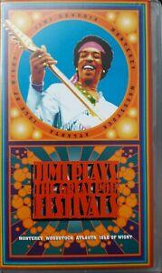 Jimi Hendrix Jimi Plays The Great Pop Festivals UK VHS