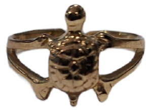 Toe Ring Turtle Adjustable Gold Plated over 925 Sterling Silver # 28