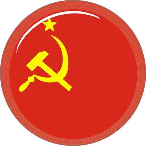 3 D 5 cm Fan Sticker Sowjetunion für Auto Caravan Bike Helm Handy Laptop