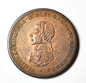 1813-Wellington-Cossack-Penny-Token-34mm-Rare-Breton-985-Canada