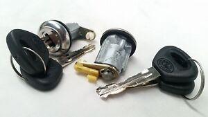 Pair Door Lock Cylinder Set W// Key for Mazda RX-2 RX-3 RX-4 RX-7