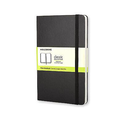 Moleskine Classic Notebook - Large - Blank - white - Hard - Black
