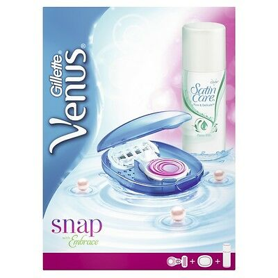 Gillette Venus Embrace Snap Geschenkset Nassrasierer mit Rasiergel und Reiseetui