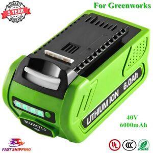 6.0Ah New for GreenWorks 40V G-MAX Lithium Battery 40V 20302 29462 29252 2901319