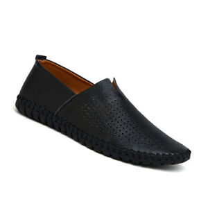 Mens-Summer-Breathable-Loafers-Casual-Slip-On-Flats-Soft-Leather-Driving-Shoes