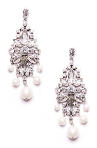 Happiness Boutique Statement Ohrringe Chandelier in Vintage Silber