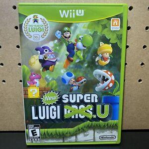New-Super-Luigi-U-Nintendo-Wii-U-2013-GREEN-WII-U-CASE-Complete-amp-Tested