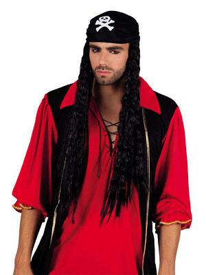 Parrucca Pirata Black Bellamy Con Bandana Carnevale Carnevale Parrucca-ke It-it Perfetto Nella Lavorazione
