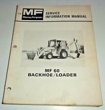 Massey Ferguson Mf 60 Backhoe Loader Service Information Manual Original 379