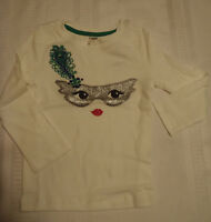Gymboree Wild For Horses Girls Size 3 Long Sleeve Cotton Silver Mask Shirt