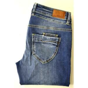 Details zu Kayamara Nomi, coole Slim Fit Jeans in Blue Used Destroyed, Stretch