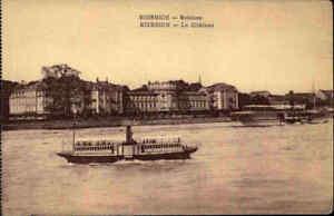 1920-Rhein-Schiffe-Dampfer-vor-dem-Schloss-BIEBRICH-bei-Wiesbaden-in-Hessen