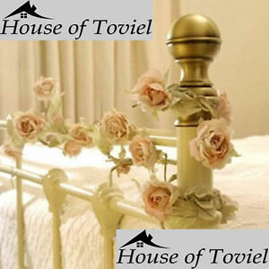 Artificial Flower Rose Garland Cream Wedding Decor by Sass and Belle