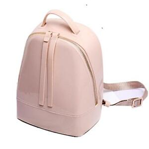 Details about  /Jelly Backpack Women Shoulder Bag Candy Colors PVC Waterproof Ladies Backpack