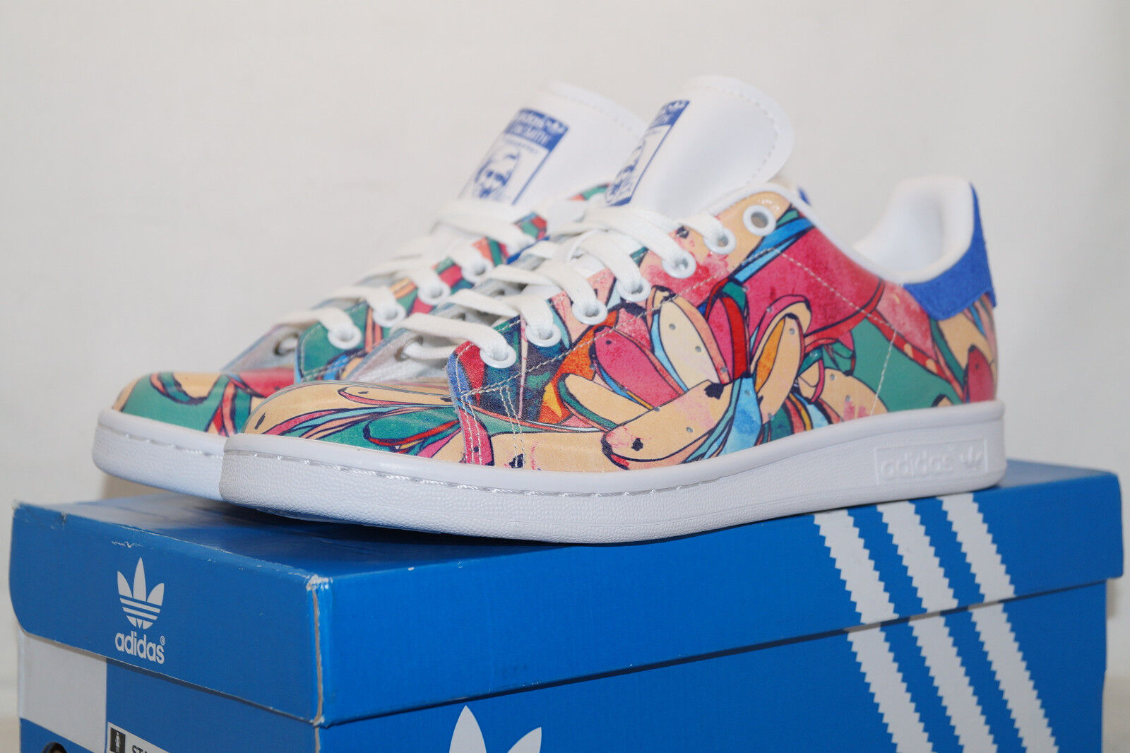 Adidas Adidas Adidas Originals Stan Smith UE 38 UK 5 tropical Print wmns s32036 Gomaespuma  soporte minorista mayorista