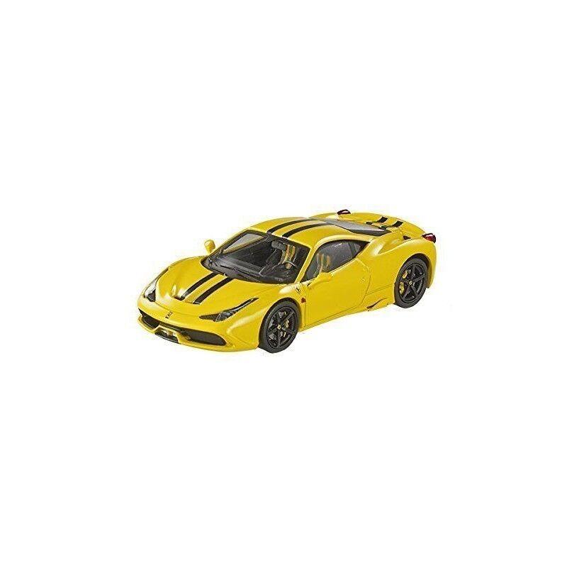 1 43 1 43 2013 ferrari 458 speciale, amarillo with with with blancoo & negro stripes. hw e e5b074