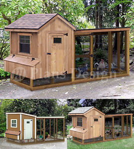 Chicken-Coop-with-Lean-to-Kennel-Two-in-One-Combo-Project-Plans-Instructions