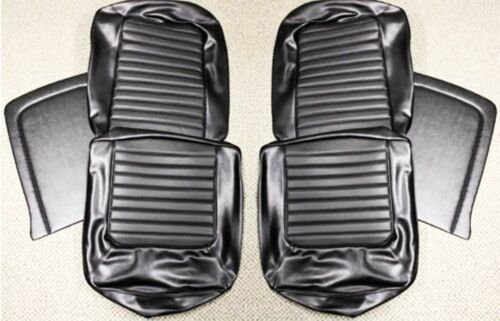 NEW 1966 Ford Mustang Seat covers Upholstery Buckets Black Fastback 2+2 Set