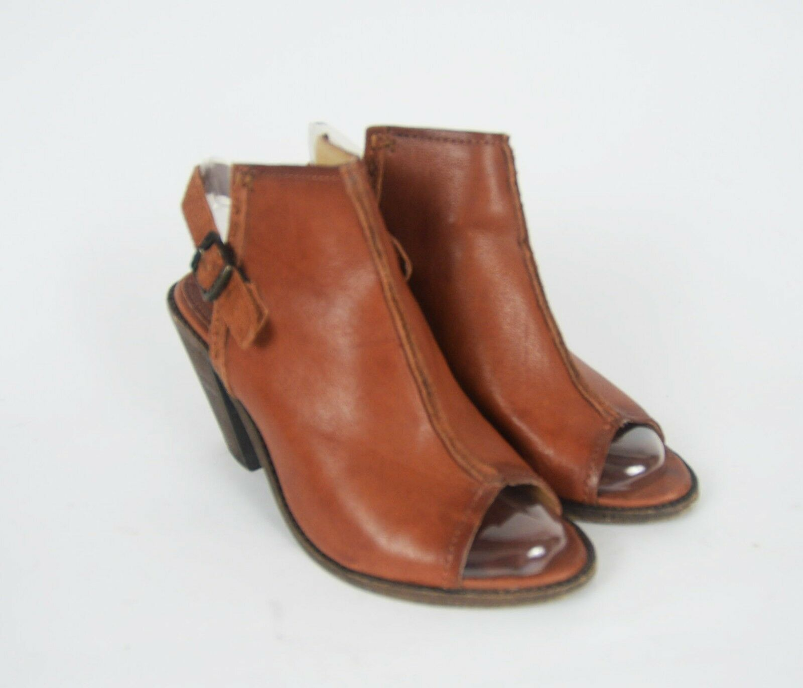FRYE IZZY BOOTIES COGNAC SZ 9 B LEATHER