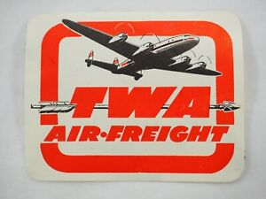 Vintage-Twa-Air-Freight-Carta-Etichetta-Adesivo-Raro