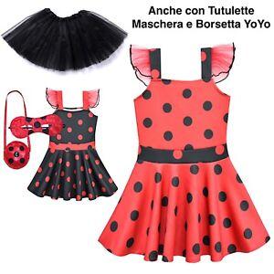 prezzo ragionevole qualità e quantità assicurate rapporto qualità-prezzo Dettagli su Simil Ladybug Vestito Bambina Festa Tutù Tutulette Lady bug  Elegant Dress LADV04