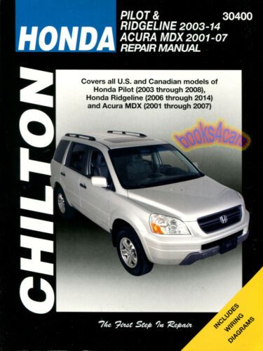 SHOP MANUAL PILOT RIDGELINE SERVICE REPAIR HONDA CHILTON BOOK HAYNES