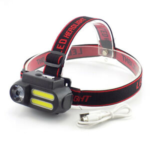 COB-Led-Headlamp-XPE-Headlight-Mini-18650-Head-Torch-Lamp-Light-USB-rechargeable