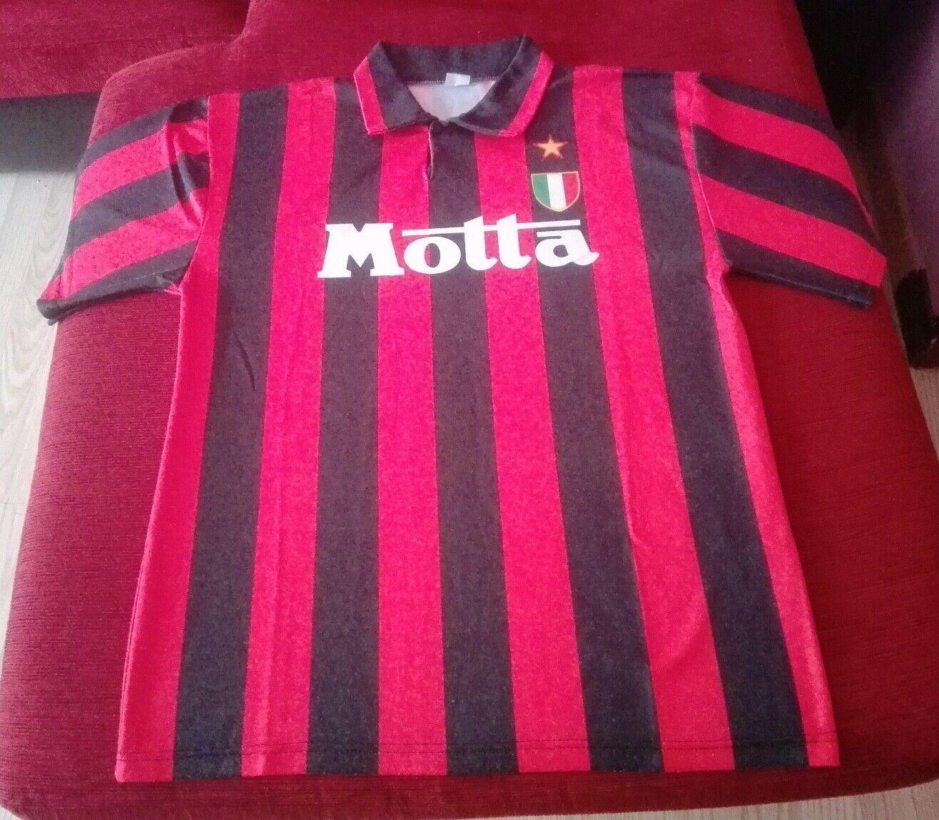 Maglia AC Milan Sponsor Motta TG XL Made in italy Originale Scritto su Etichetta