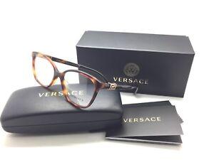 6e8ea98abfa Versace Women Tortoise Cats Eye New Eyeglasses MOD 3235 B A 5217 54 ...