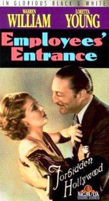 VHS Employees Entrance: Warren William Loretta Young Alice White Hale Hamilton