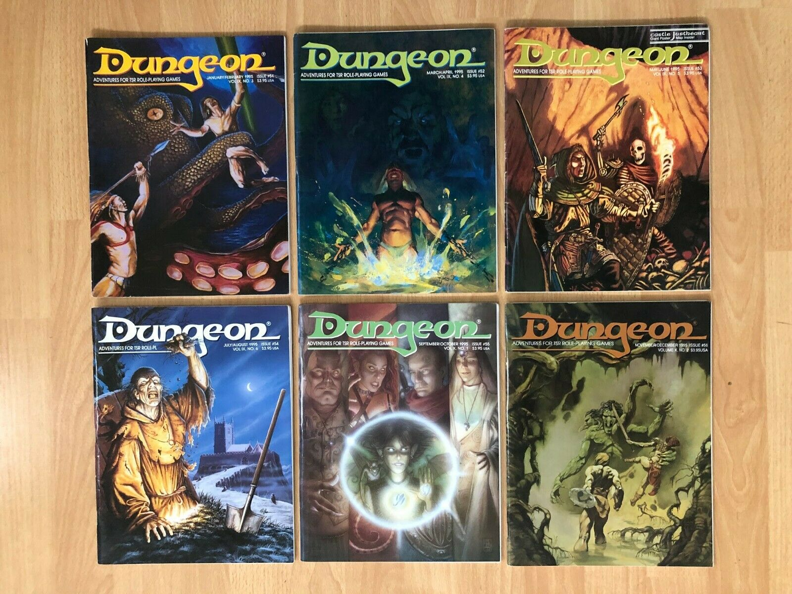 DUNGEON MAGAZINES - Lot of 6   51 - 56  1995