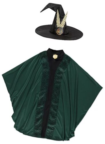KIDS HARRY POTTER PROFESSOR MCGONAGALL CHILDREN FANCY DRESS UP COSTUME OUTFIT