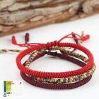 Bracelet tibétain réglable en coton fait main