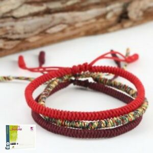 Bracelet-tibetain-reglable-en-coton-fait-main