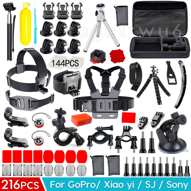 216 Accessories Pack Head Chest Monopod Bike Surf Mount for GoPro Hero 6 5 4 3 2