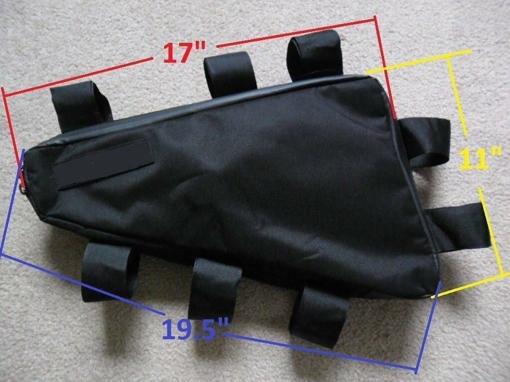 Bicycle Frame Bag Electric bike heavy duty battery bag Up to 18 lbs. OK