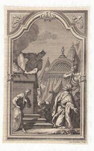 Kupferstich 1750 Carlo Orsolini Anbetung des goldenen Kalb Golden calf Veau d'or
