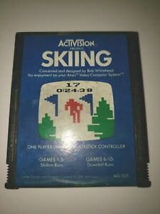 Skiing Atari 2600 Game Activision Cartridge Only