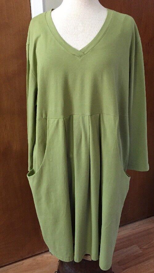 IRIDIUM Apparel Aroha Tunic Dress Top Women's Size  2X NWT Pre Shrunk Cotton