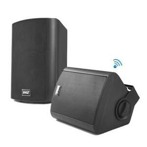 Pyle-PDWR62BTBK-Wall-Mount-Waterproof-amp-Bluetooth-Speakers-6-5-Indoor-Outdoor